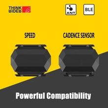 Thinkrider ant + velocidade e cadência sensor duplo computador velocímetro bicicleta velocidade e cadência adequado para igpsport bryton