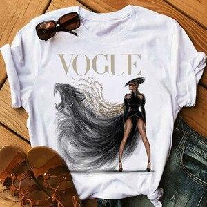 Women Harajuku Aesthetic Tshirt Female Vogue Print Short Sleeve Tops&Tees Women 90s Clothing Fashion Princess T-shirts,Drop Ship