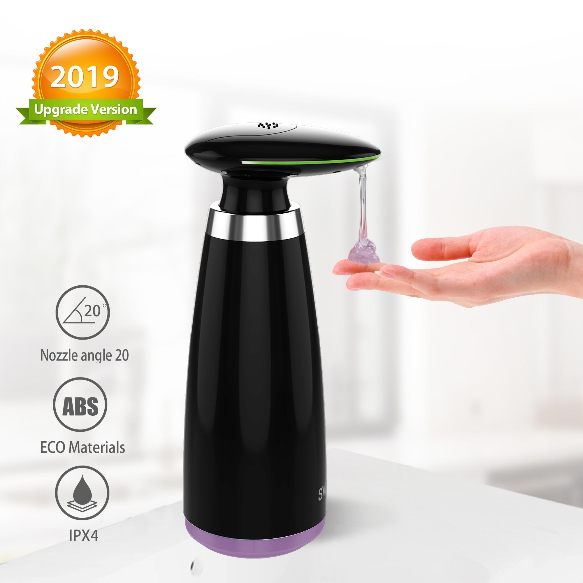 SVAVO 350ml distributeur de savon automatique infrarouge sans contact mouvement salle de bain distributeur de savon liquide capteur intelligent pour cuisine