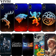 Luxury Game Thrones For iPhone 7 Case  X Phone XS XR MAX 8 6 6S Plus 5 5s SE Soft Silicone Protective Coque Etui