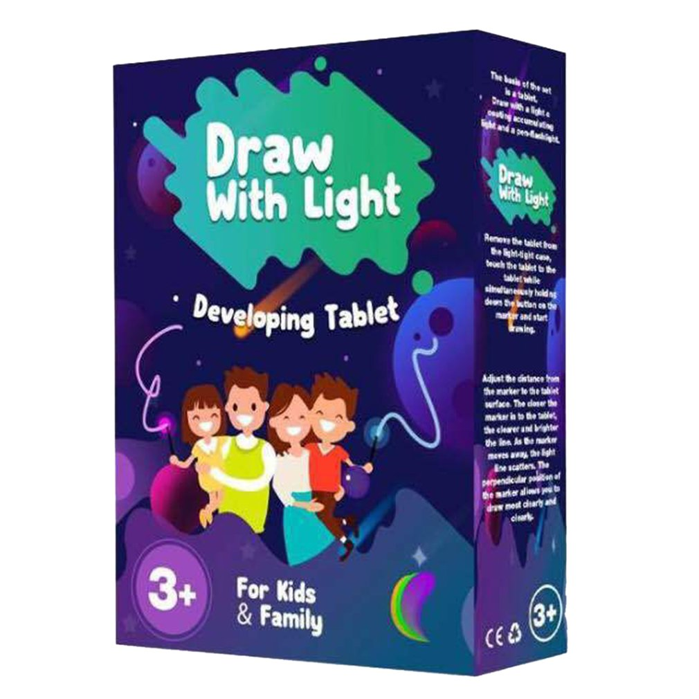 Writing Board Puzzle Painting Writing Board Luminous Board Children Glow Graffiti Fluorescent Board 3D Drawing Board