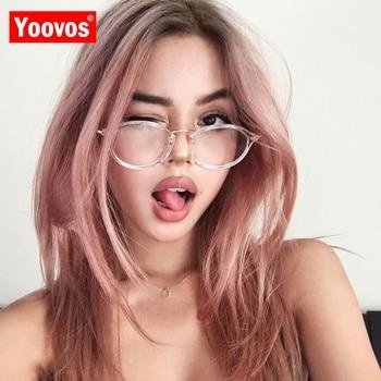 Yoovos 2019 gafas redondas de luz azul Marco de gafas para ordenador gafas transparentes mujeres gafas de montura óptica marcos claros