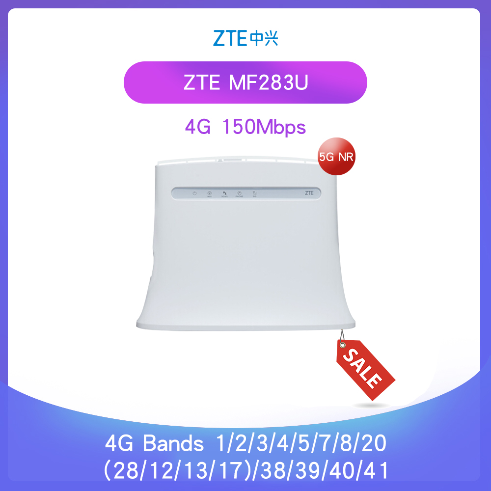 Unlocked  ZTE MF283 MF283u 4g LTE 150Mbps Router Wireless Wi-Fi Router Hotspot Wireless Gateway  Global