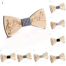 Weastern – nœud papillon en bois pour hommes, élégant, fait à la main, pour fête de mariage, Unique, à la mode