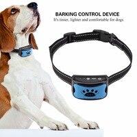 Bunte Haustier Hund Halsbänder Anti Bellen Gerät USB Elektrische Ultraschall Hunde Training Kragen Hund Aufhören Zu Bellen Vibration Anti Bark