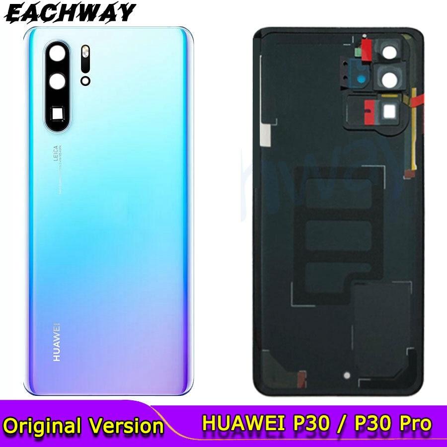 Оригинал для Huawei P30 Задняя крышка батареи Задняя стеклянная дверь корпус чехол для Huawei P30 Pro крышка батареи с объективом камеры