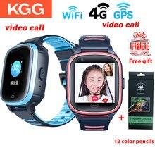 KGG 4G çocuklar akıllı saatler video görüşmesi çocuk WIFI spor bilezik izle GPS bağlı su geçirmez bebek cep smartwatch