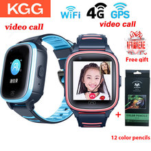 KGG relojes inteligentes para niños, 4G, con vídeo, llamadas, WIFI, pulsera de Fitness, GPS conectado, impermeable, móvil