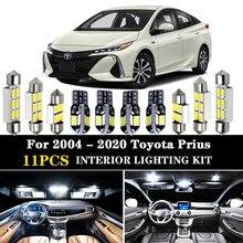 Kit d'éclairage d'intérieur de voiture led blanche, 11 pièces, sans erreur, pour Toyota Prius 20, 30, 40, 50, NHW20, ZVW30, ZVW40, ZVW50, ZVW51, ZVW55, 2004 - 2020