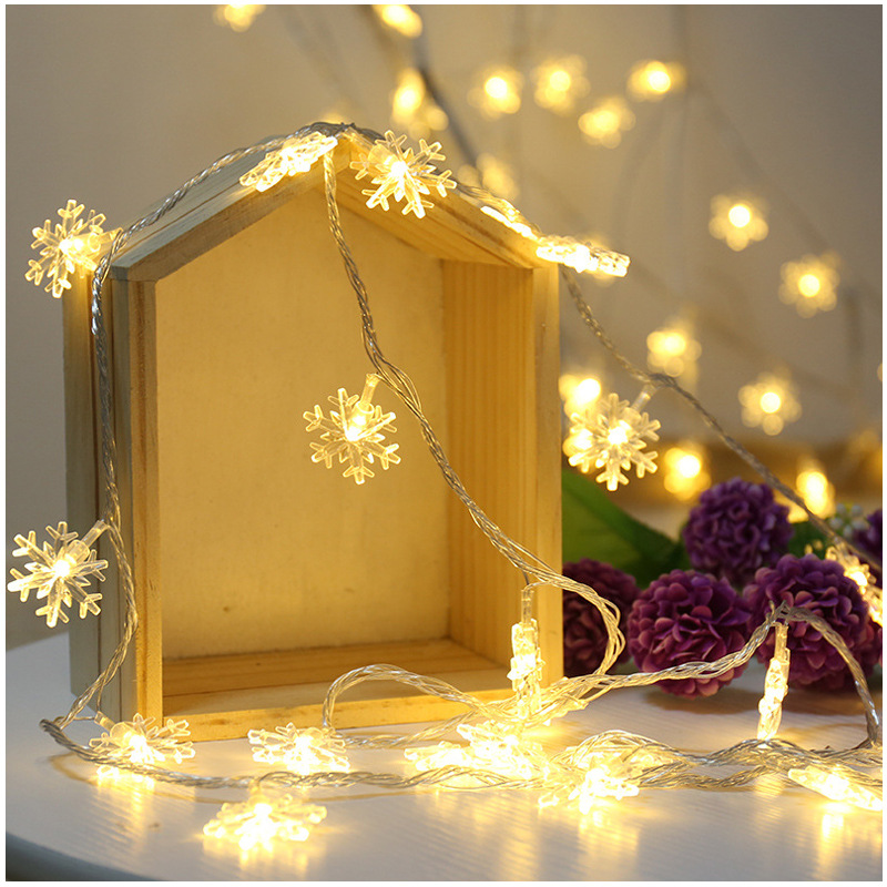 Christmas Lights Outdoor 3M 6M Indoor Garland Holiday Xmas Valentine's Party Wedding LED String Lights Snowflake Fairy Lights
