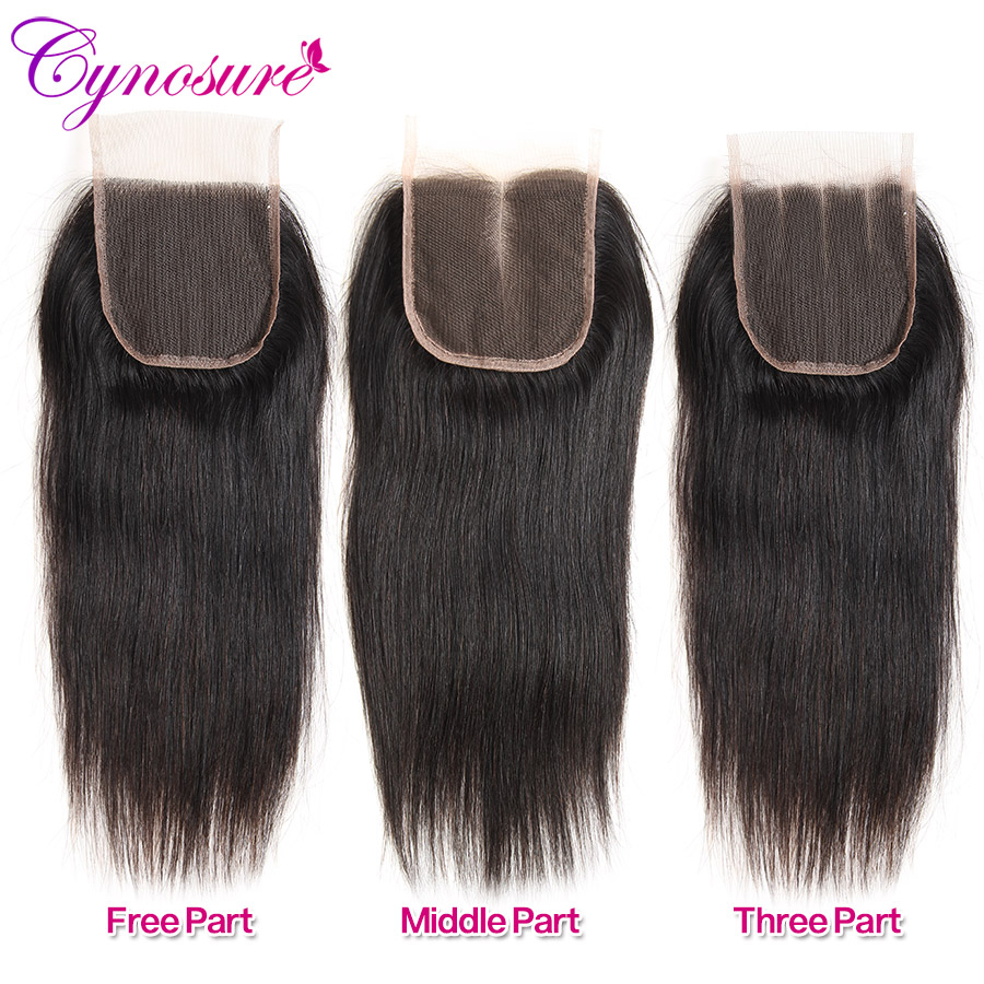 H6078b90d3d4a4e13b16c4dc24d84c9d7g Cynosure Brazilian Straight Hair Weave 3 Bundles with Closure Natural Black Remy Human Hair Bundles with Closure