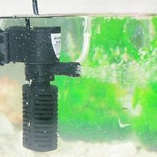 3W Mini Pump Aquarium Fish Tank Filter 3 in 1 sponge filtering + Water Flow+Air Increase