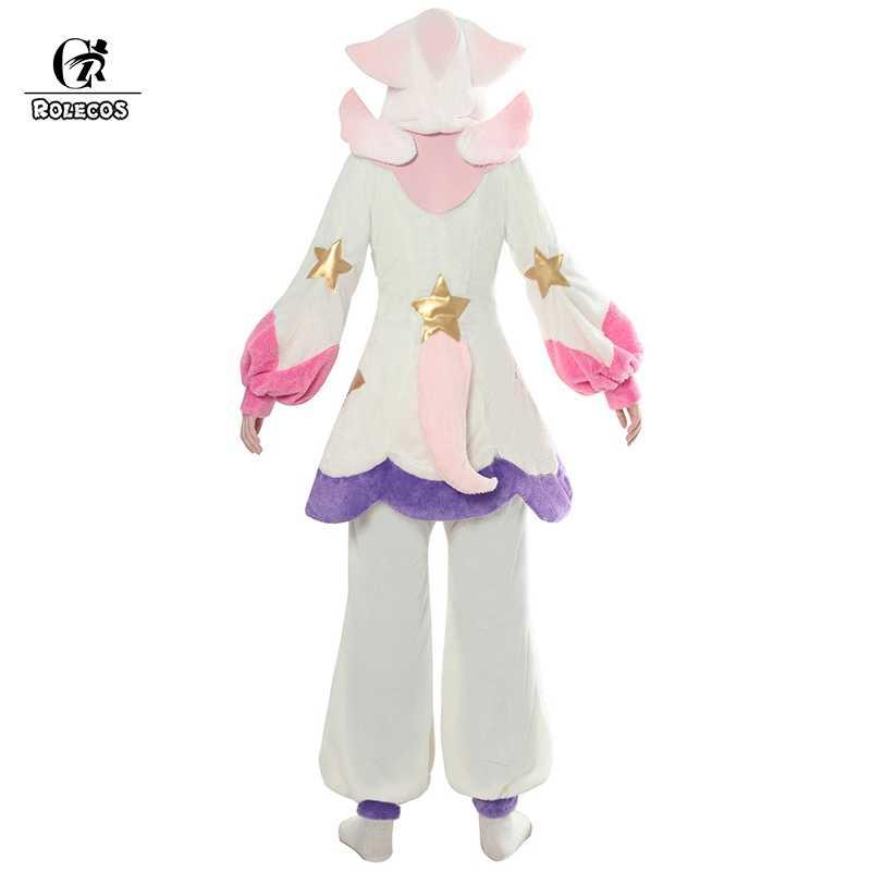 ROLECOS LOL Lux Косплей костюмная Пижама Звездный Guardian LOL Косплей Костюм люкс Пижама для женщин Зимняя Пижама коралловый флис игра