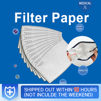 PM2.5 Filter Paper Reusable Filter Paper Anti Dust Haze Mouth Mask Anti Protective Face Masks Bacteria Proof Flu Filte For Mask