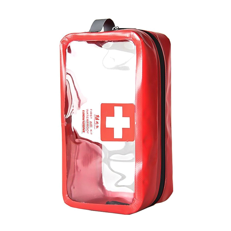 First Aid Kit Emergency Medical First Aid Kit Bag Transparent PVC Waterproof Car Kits Bag Outdoor Travel Survival Kit Empty Bag