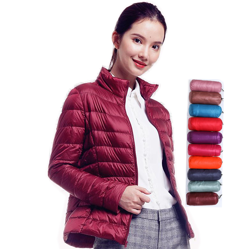 4XL Duck Down Jacket  Autumn And Winter Women Ultra Light Down Jacket Feather Jacket Plus Women's Overcoat Windbreaker Coats