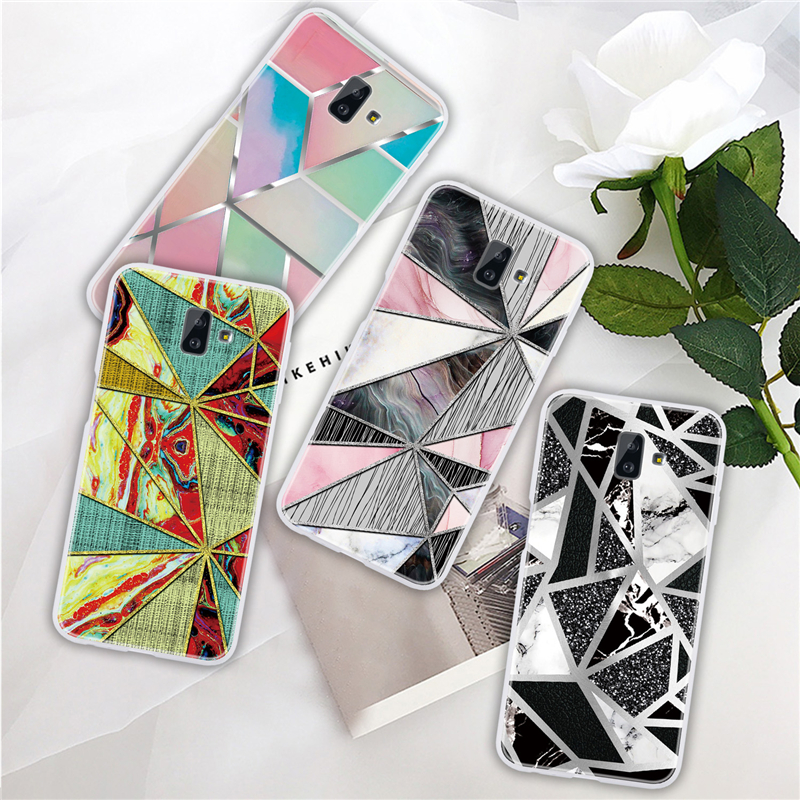 Marble Soft Silicone <font><b>Back</b></font> <font><b>Cover</b></font> Case For <font><b>Samsung</b></font> Galaxy A7 A8 A6 J4 J6 Plus 2018 J8 A5 J3 J5 J7 2017 A750 <font><b>A520</b></font> Cases Coque Funda image