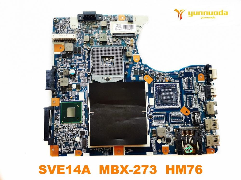 Original For SONY SVE14A Laptop  Motherboard  SVE14A  MBX-273  HM76  Tested Good Free Shipping