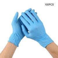 Vinyl Handschuhe 100 / Box Einweg Pulver free Industriellen Lebensmittel Sicherheit 3mm Transluzenten Pvc Handschuhe Nitril Handschuhe-in Schutzhandschuhe aus Sicherheit und Schutz bei