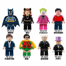 PG8009 Building Blocks Super Heroes Batman Robin Bruce Wayne Dick Grayson Alfred Pennyworth Joker Catwoman Penguin Children Toys