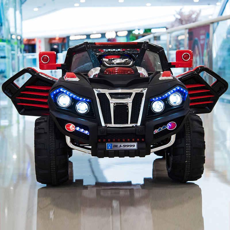 Carro elétrico para crianças carros bebê crianças passeio de roda elétrica no carro elétrico para criança passeio remoto em brinquedos crianças fora de estrada