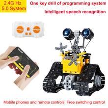 MOC High-Tech Program City Creative Electric Remote Control Intelligent RC Robot Building Blocks Bricks Boys Toys Birthday Gifts