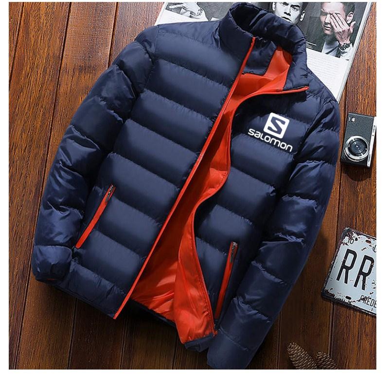 2019 New Winter Jackets   Parka   Men Autumn Winter Warm Outwear Brand Slim Mens Coats Casual Printed Jackets