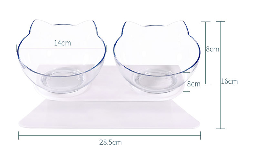Non-slip Cat Bowls Double Pet Bowls With Raised Stand Pet Food and Water Bowls For Cats Dogs Feeders Pet Products Cat Bowl