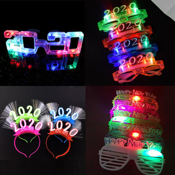 Gafas Led parpadeantes, luminosas, regalo luminoso, diadema brillante, gafas parpadeantes, decoración para el hogar para bodas, cumpleaños, fiestas, 2020