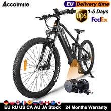 Ue eua ru nenhum imposto nova bicicleta elétrica poderosa 48v 750w bafang meados do motor das mulheres dos homens montanha ebike 27.5 polegada e bicicleta 17.5ah bateria