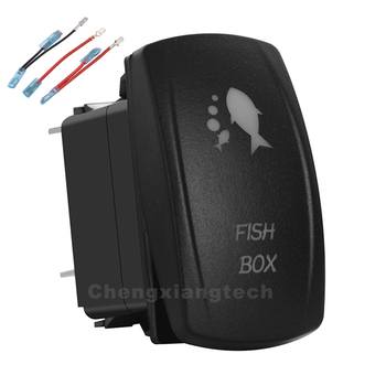 12v/24v Fish Box Up Green & Down Blue Led Rocker Switch 5P SPST ON/OFF+Jumper Wires Set Car Boat Truck Waterproof - discount item  45% OFF Auto Replacement Parts