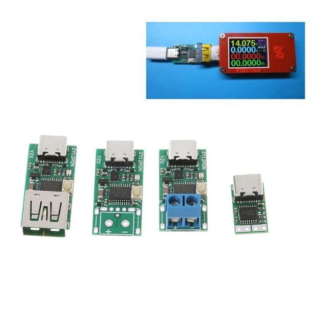 """סוג C USB מהיר טעינה דמה גלאי הדק סקר Mudule פ""""ד 5A 9 V/12 V/15 v/20 V אוטומטי מבחן 95AD"""