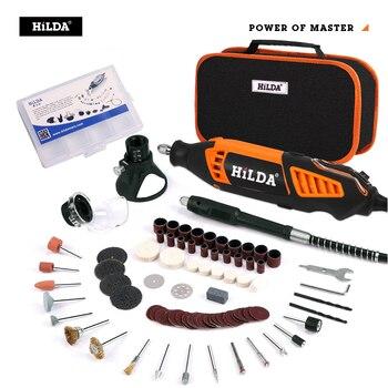 цена на HILDA Electric Mini Drill Variable Speed Rotary Tool For Dremel Mini Electric Grinder Dremel Accessories drill machine