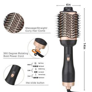 Image 3 - خطوة واحدة فرشة مجفف الشعر و Volumizer ضربة مستقيم و بكرة الشعر صالون 2 في 1 الأسطوانة الكهربائية مكواة تجعيد الهواء الساخن مشط