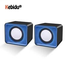 Универсальный музыкальный мини динамик USB 2,0, музыкальный Стереодинамик 3,5 мм, пульт для мультимедиа, настольного компьютера, ноутбука