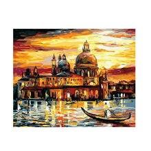 Digital painting kit diy frameless oil for home decoration venice