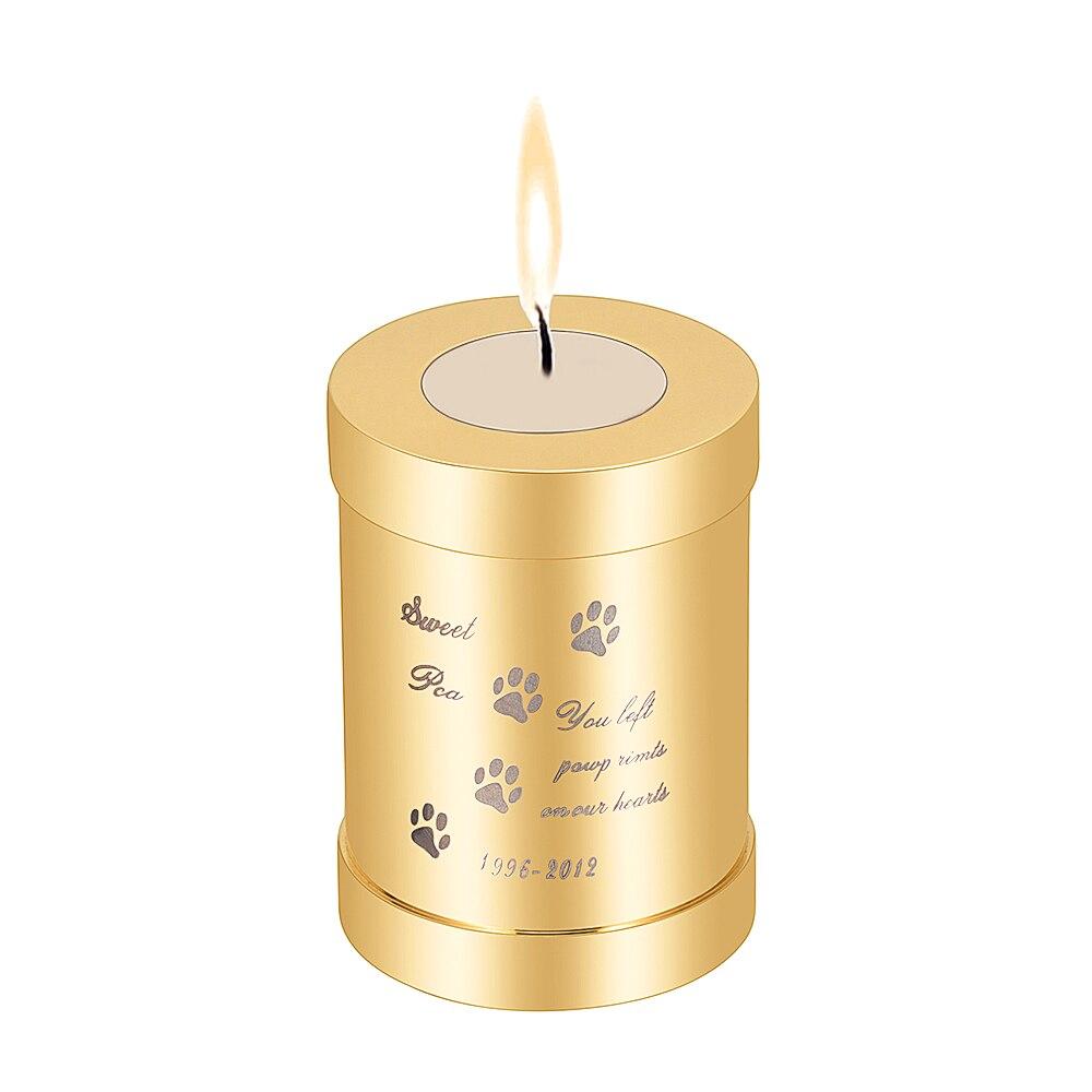 Crémation personnalisé personnalisé graver nom d'animal familier/Da en acier inoxydable urnes pour cendres de chien/chat souvenir Mini mémorial bijoux tenir