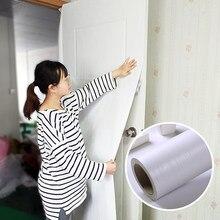Wokhome samoprzylepna tapeta z PVC 3D grube białe dębowe tapety wodoodporne naklejki do renowacji mebli naklejki z drewna