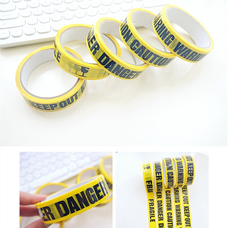 25M DIY Decoration Warning Tapes Halloween Decorations Outdoor Scary Party Construction Birthday Party Caution Ribbon Halloween