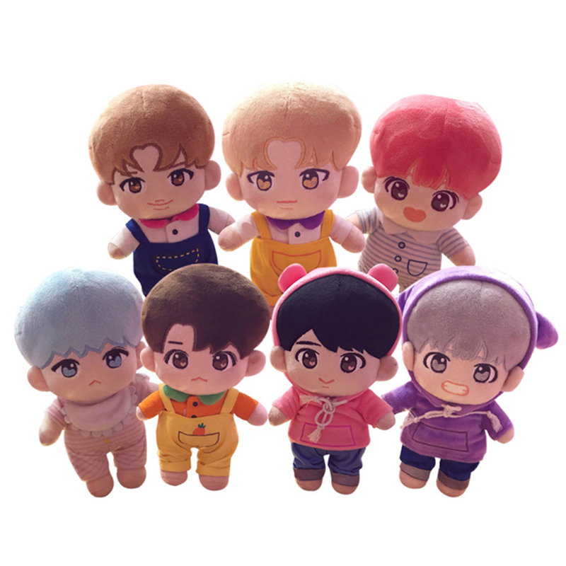 23cm Kawaii Korea Cartoon Plush Dolls Toys Plush Stuffed Doll Superstar Cute With Clothes Toy Gifts Collection For Kids Birthday