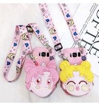 สำหรับSamsung S10 Plus 3D Sailor Moon S8/S7edgeกระเป๋าสตางค์สำหรับGalaxy S9plusเหรียญS8plusกระเป๋าสายสะพาย