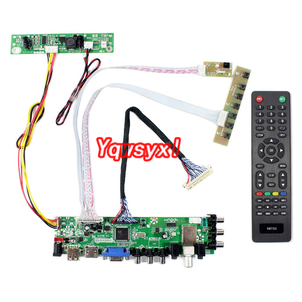 Kit For M270HW02 M236HGE LM230WF5 LM215WF3 M215HGE M215HW01 T215HVN01 Digital Signal DVB-T DVB-T2 DVB-C LED Screen Control Board