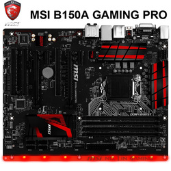 MSI B150A GAMING PRO Motherboard LGA1151 DDR4 64GB PCI-E 3,0 Intel B150 Desktop B150 Mainboard ATX DDR4 1151 Verwendet