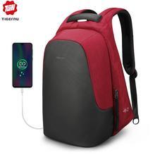تيجيرنو حقيبة ظهر أنيقة مضادة للسرقة لأجهزة الكمبيوتر المحمول 15.6 بوصة موتشيلاس سبلاشبروف للرجال والنساء حقيبة الظهر مع USB شحن السفر