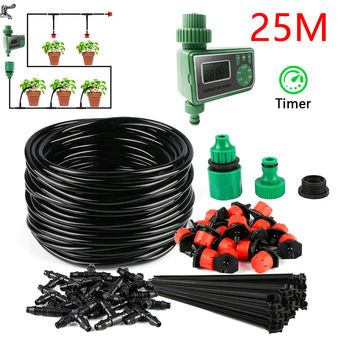 25M DIY Drip Irrigation System Automatic Watering Irrigation System Kit Garden Hose Micro Drip Watering Kits Adjustable dripper 1