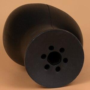 Image 4 - PU ブロック頭発泡マネキンヘッドかつらの帽子毛メガネディスプレイモデルかつらショーケースアイテムダミーヘッド用のブラックスタンド