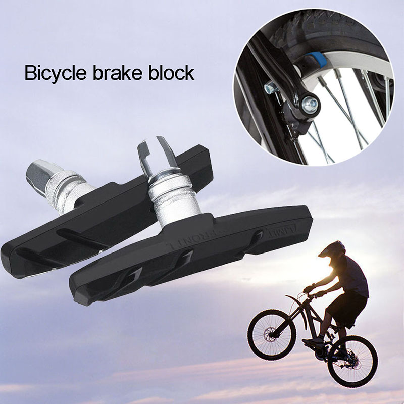 New 1 Set  Road Bicycle Cycling V-Brake Blocks Pads Holder Rubber For Safety