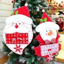 Рождественский Адвент-календарь карманы Санта Клаус Снеговик настенный подвешиваемый отсчет Декор рождественские украшения ручной работы для дома/c