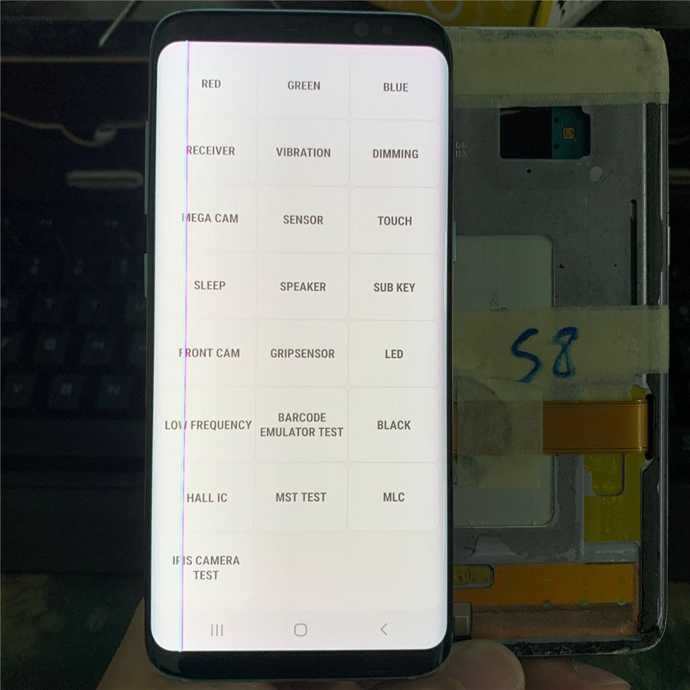 Have Line Defect Test For Samsung <font><b>Galaxy</b></font> <font><b>S8</b></font> G950F G950FD Touch Screen Digitizer LCD <font><b>Display</b></font> For Samsung G950 G950U G9500 <font><b>S8</b></font> Used image