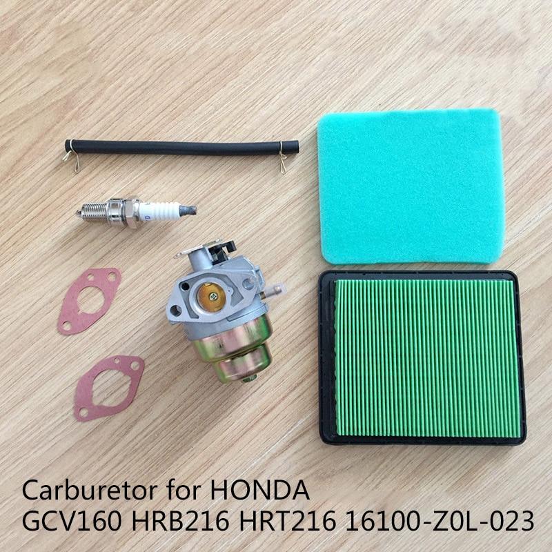 Carburetor Air Filter Kit Fit For Honda GCV160 HRB216 HRT216 16100 Z0L 023 Power Equipment Accessories Lawnmower Parts